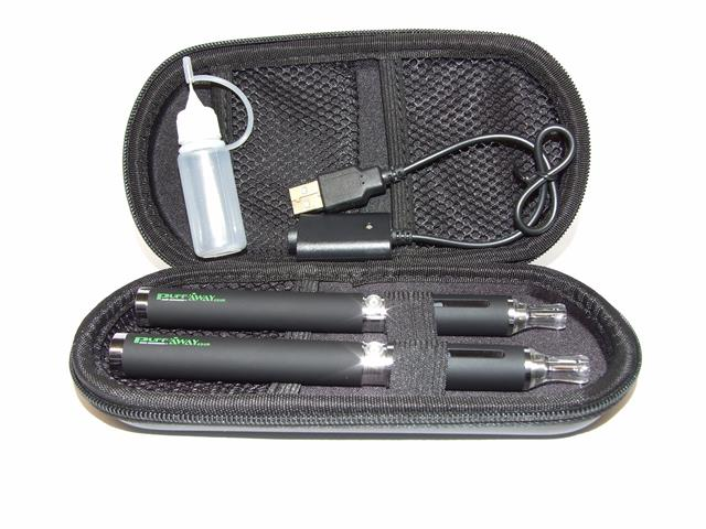 Twin electronic cigarette starter kit - Black