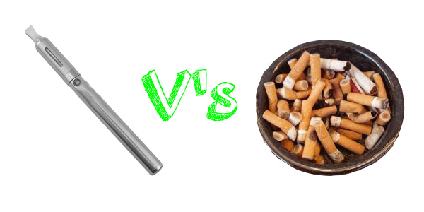 electronic cigarette versus ashtray